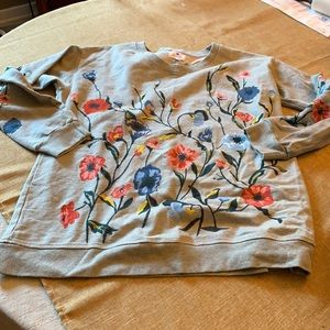 Anthropologie Sundry embroidered sweatshirt